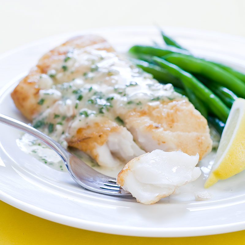 Pan-Seared Cod with Herb Butter Sauce Recipe - Cook's Country