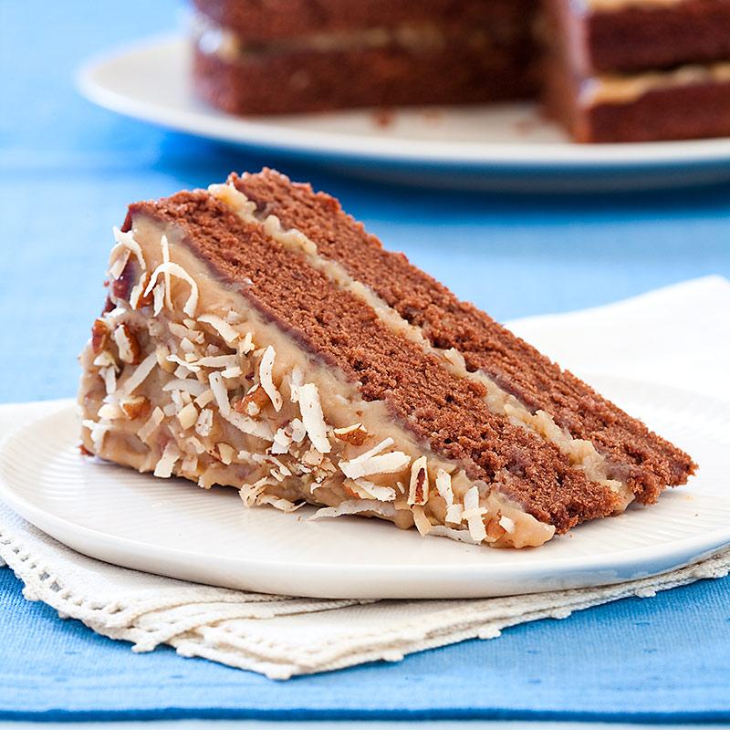 Reduced Fat German Chocolate Cake