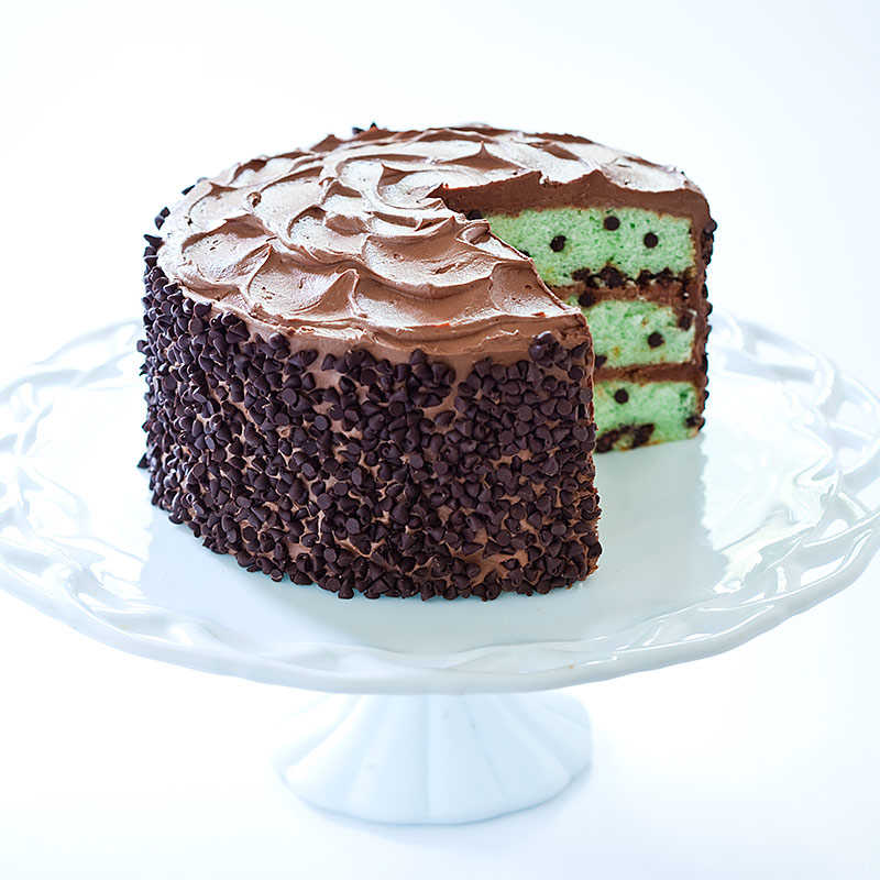 Mint Chocolate Chip Cake Recipe - Cook's Country